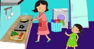 Tả mẹ đang nấu cơm
